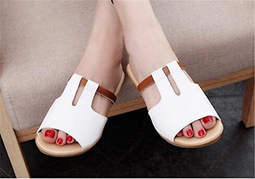 Boowhol - Sandalias de Material Sintético para mujer plateado plata Weiß