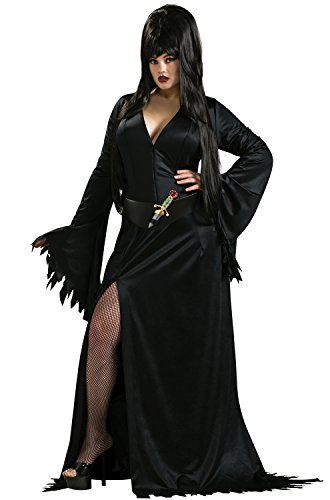 [Rubies Elvira Plus Size Vampire Costume - X-Large] (Halloween Costumes Elvira)
