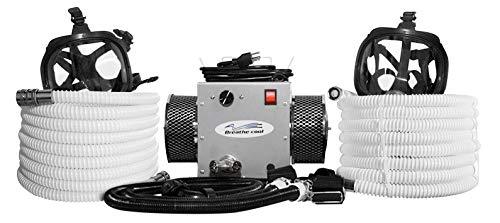 2-man full face supplied air respirator w/50' air hoses