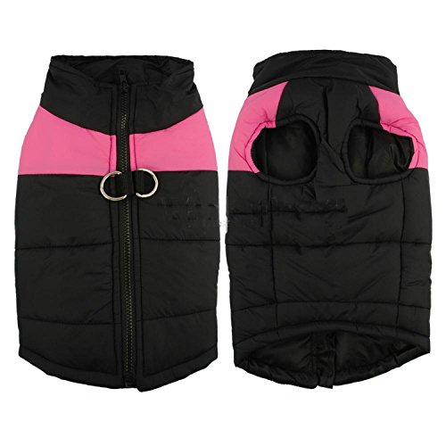 HuoGuo NEW Winter Dog Clothes Waterproof Warm Pet Vest Jacket Coat For Small Medium Large Dogs roupas para S M L XL XXL Pink 5XL