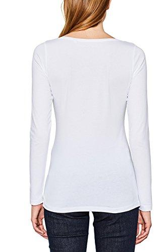 ESPRIT, Camisa Manga Larga para Mujer Blanco (White 100)