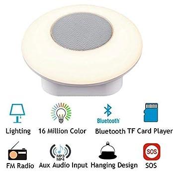 LONGWEN Portable Wireless Bluetooth Speaker Colorful Lights