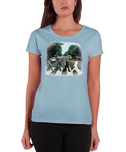 e9498d53b15d The Beatles Women's Abbey Road Short Sleeve T-shirt, Blue, Size 14