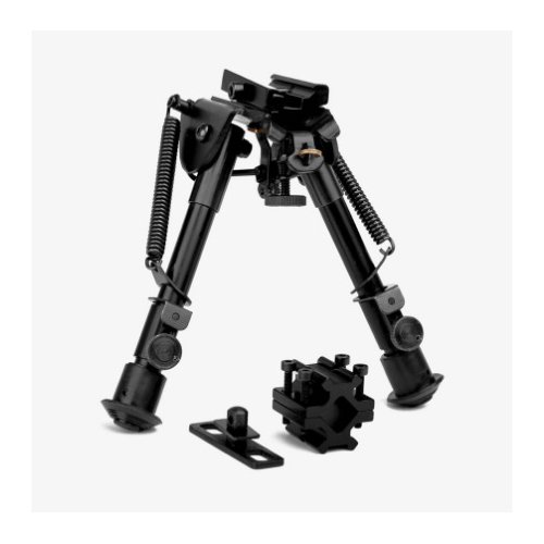 M1SURPLUS Tactical Bipod Kit with Compact Height Adjustable Rifle Bipod Barrel Mount Interface Fits Ruger 10/22 Marlin 22 Mossberg 715t Ruger SR22 Rifles