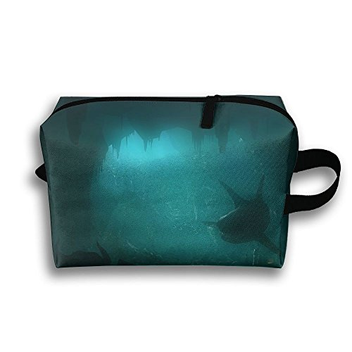 Outwork Sports Bag Toiletry Creepy Sharks Wash Makeup Bag Storage Toiletry Organizer Pencil Case Handbag -