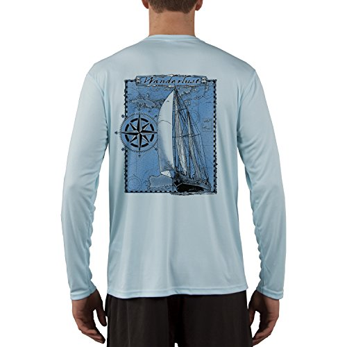 Island Lifestyle Wanderlust Mens UPF 50+ UV Sun Protection Long Sleeve T-Shirt