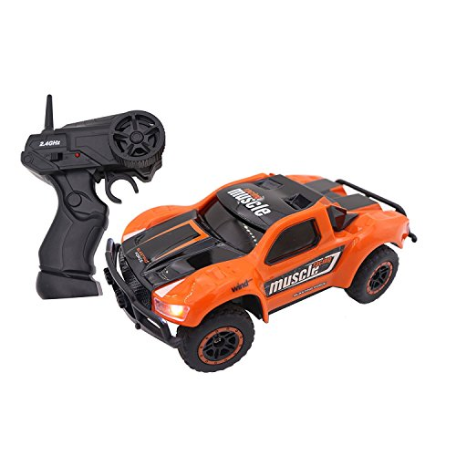 Cheap AHAHOO RC Cars 1:43 Scale 4WD High Speed 9MPH+ 2.4Ghz Radio Remote Control RTR Electric Fast Racing Car with LED Headlight supplier
