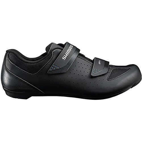 Black Mens Bike Shoes - SHIMANO SH-RP1 Cycling Shoe - Men's Black; 46