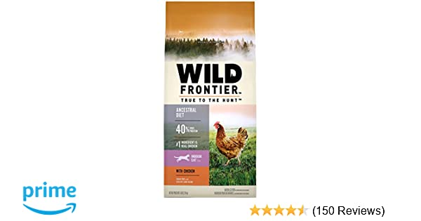 Amazon.com : WILD FRONTIER Indoor Adult Grain Free Dry Cat Food Chicken Flavor, 5 lb. Bag : Pet Supplies