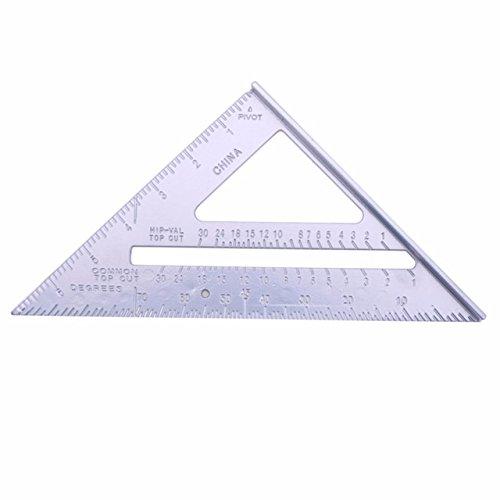 Aluminum Alloy Ruler - 1 Piece Aluminum Alloy Speed Square Protractor Miter Framing Tri-square Line Scriber Saw Guide Measurement Meter Square Carpenter Ruler