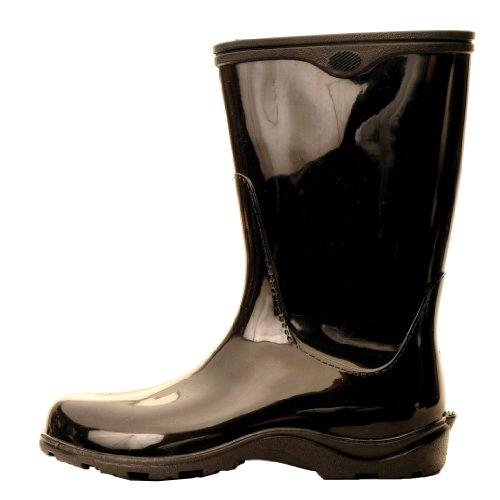Regn Og Kvinners Sloggers Svart Hage Solid Støvler 5gOFw