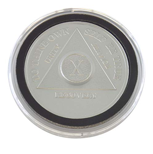 10 Year - Special AA Coins - .999 Silver AA Medallion   Recovery Shop (Ounce Silver 0.5 Coin)