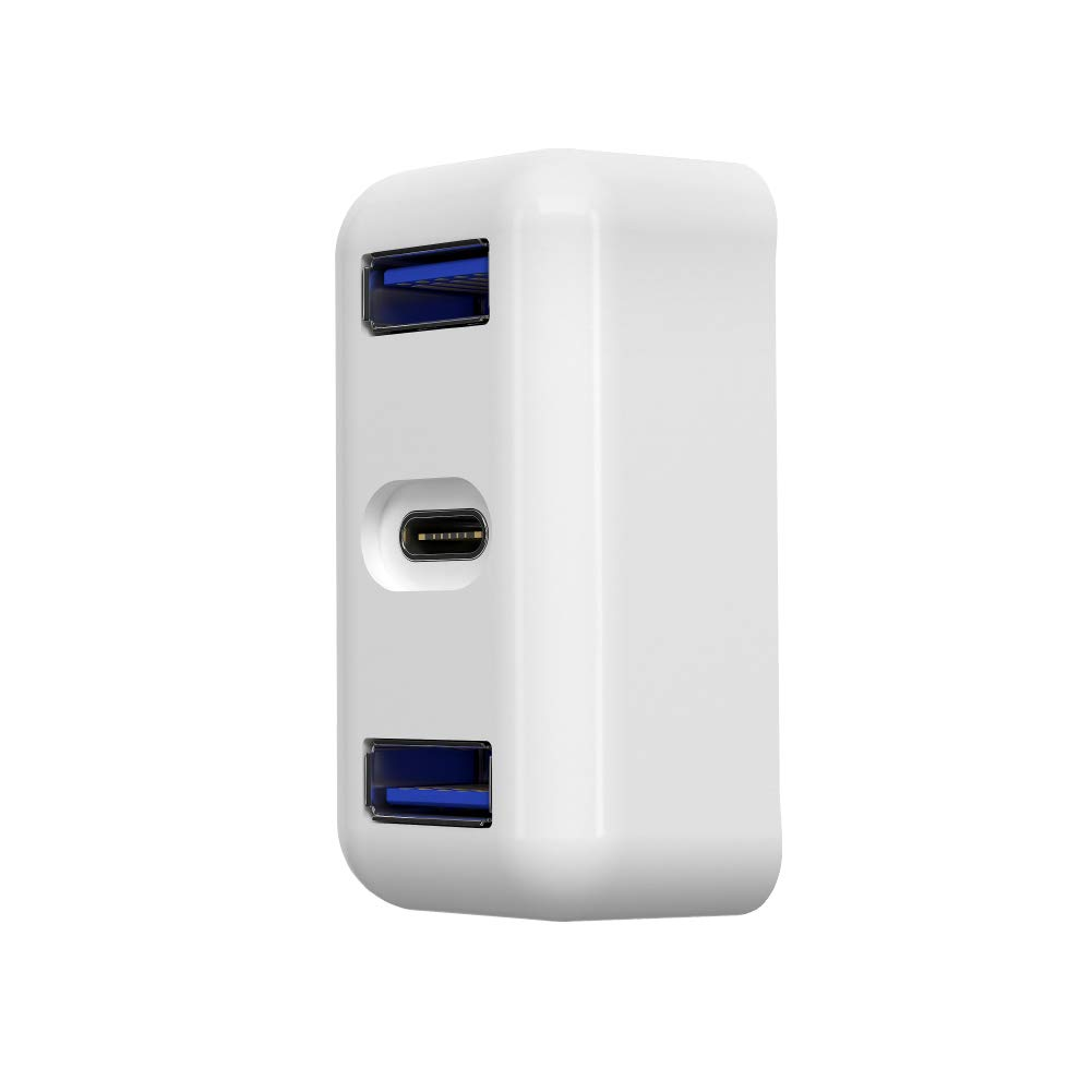 Shentesel Fast Charge Converter 2 USB 3.0 Type-C Adapter Hub for MacBook Power