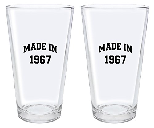 glass 50th birthday beer mug - 7