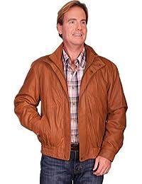 Leather Men's Featherlite Jacket w/ Double Collar 909