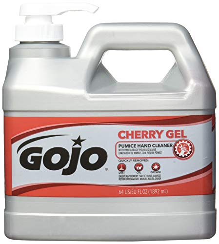 Gojo 2356-04 Cherry Gel Pumice Hand Cleaner, 0.5-gallon by Gojo (Image #2)
