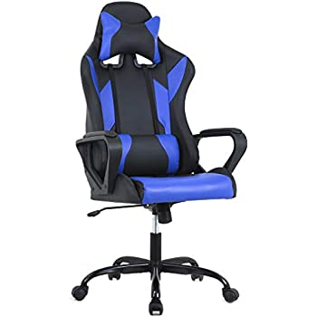 bestmassage gaming office chair high back racing chair pu leather chair reclining. Black Bedroom Furniture Sets. Home Design Ideas