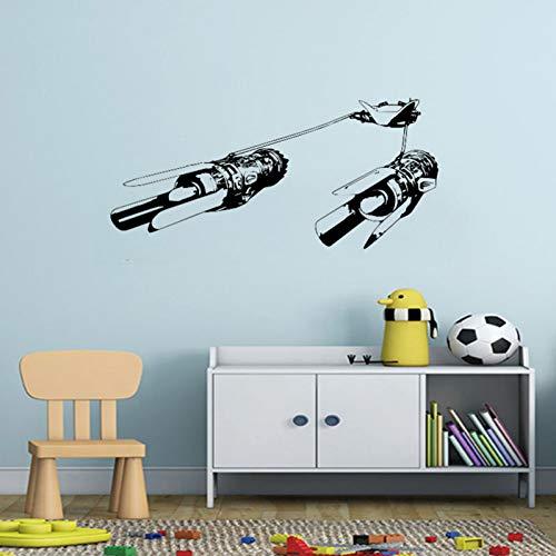 LJQTA Wall Sticker Star Wars Wall Sticker Kids Room Anakin Skywalker'S Podracer Anime Mural for Interior Decor Kids Inspiration Vinyl Decal -