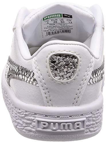 Bling Bianco Basket Bianche 36684902 Sportive Scarpe Bambina Heart 5w5nq80rZ