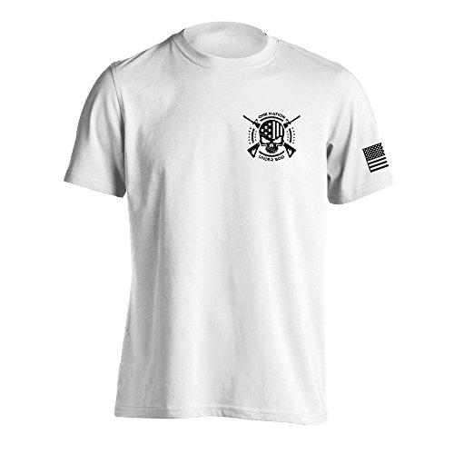 One Nation Under God Military T-Shirt Medium White