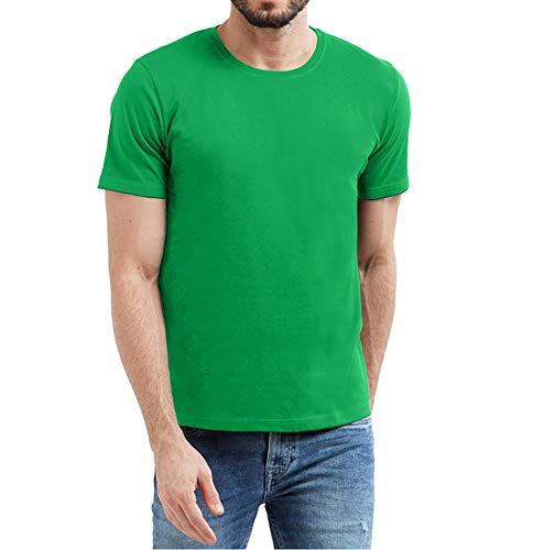Neon Compression Underscrub T Shirts for Men - Mens Athletic Thermal Green Shirt (S) ()