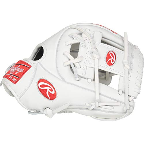 Rawlings RLA715-2W-3/0 Liberty Advanced Softball Gloves (Right Hand), White, Size 11.75