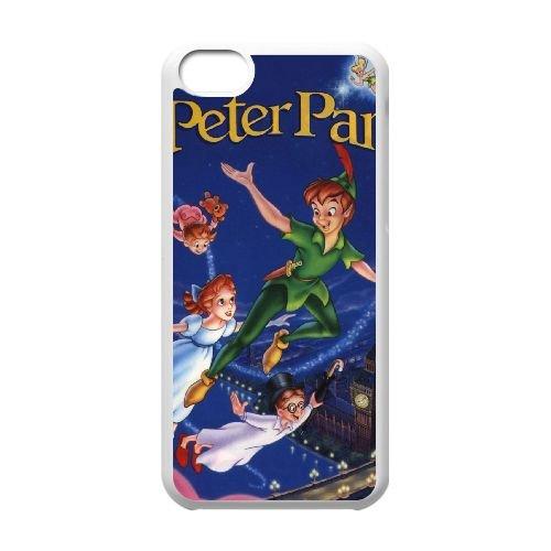 Peter Pan 016 coque iPhone 5C Housse Blanc téléphone portable couverture de cas coque EEEXLKNBC19130