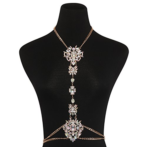 Holylove Body Chains Crystal Women Novelty Jewelry Necklace 1 PC with Gift Box-HLBN77 Crystal