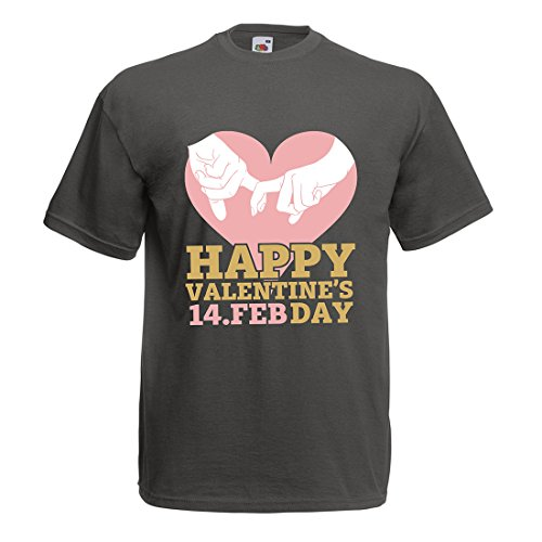 T Shirts For Men Happy Saint Valentine's Day hearts! February 14th Awesome Valentines Love Gift (XX-Large Graphite Multi Color) (Ftd Fruit Gift Baskets)