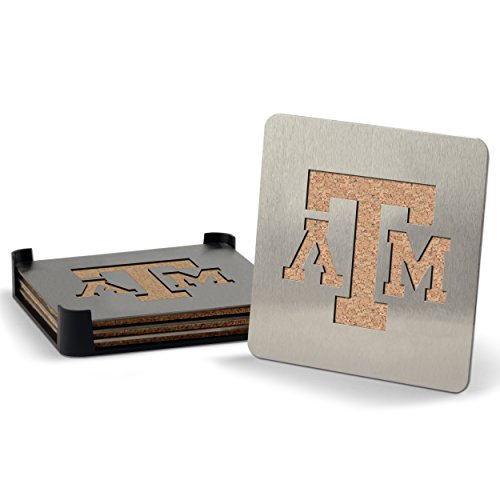 NCAA Texas A&M Aggies Boaster Stainless Steel Coaster Set of 4
