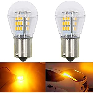 ALOPEE-(Pack of 2) Bright Yellow LED Car Blinker Turn Signal Light Replacement Bulb for Stock#1056 PY21W 7507 12496…