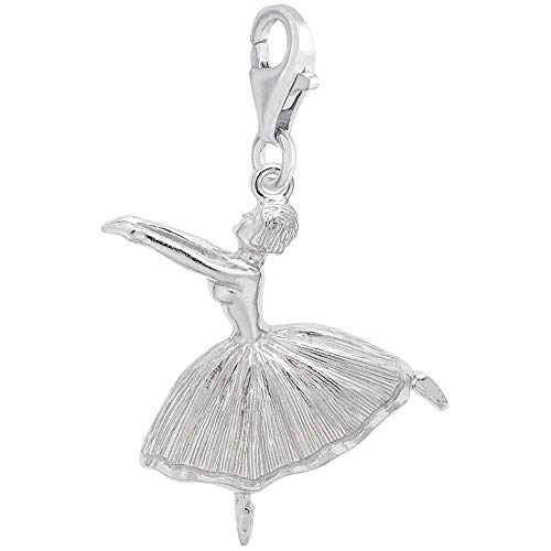 Rembrandt Charms Ballet Dancer Charm with Lobster Clasp, Sterling Silver