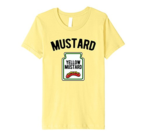 Kids Yellow Mustard Bottle - Funny Halloween Costume T-Shirt 12 Lemon