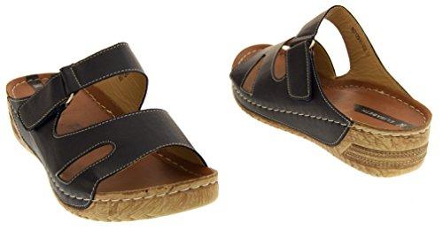 Sandals Chaussures 4 talons pour Noir Opentoed femme Taille Foncé d'été Wedge à HqxFBwBd