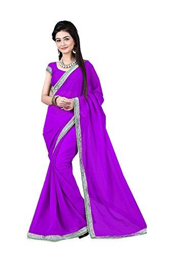Purple Ethnic Wear Party Women Da Wedding Sari Facioun Sarees 68 Designer For Indian Traditional wqqa7fv