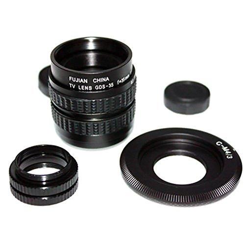 16 opinioni per Mondpalast ® CCTV cine lente Obiettivi 35mm F/1.7 + C-M4/3 adattatore per