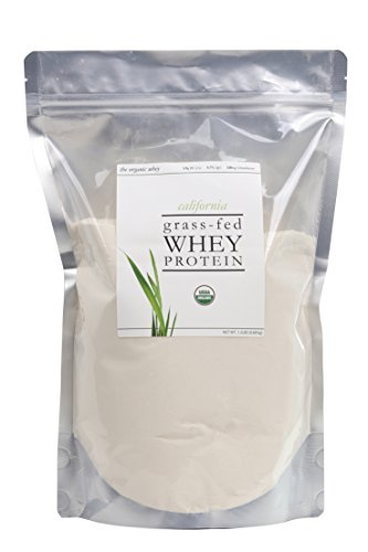 The Organic Whey Protein Powder - 100% Grass Fed Protein - Gluten-free, Non-GMO, USDA Certified Organic - Unflavored - Bulk Bag, 1.5 lbs (Organic Grass Fed Whey Protein)