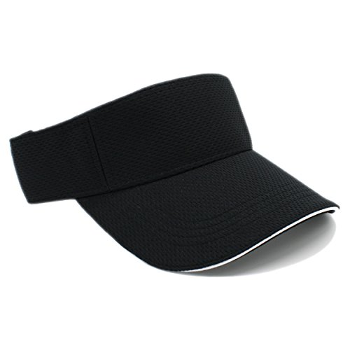 MOISTURE MANAGEMENT OUT DOOR SPORTS SUN VISORS, Quick Dry Hat (BLACK)