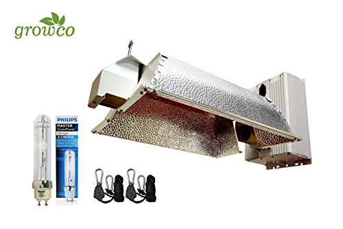 Grow Co. 630W Ceramic Metal Halide CMH System w/ Philips 3100K Full Spectrum Bulb 240V Plug Included by Grow Co.