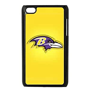 Ipod Touch 4 Phone Case NFL Baltimore Ravens Football Personalized Cover Cell Phone Cases GHQ836988