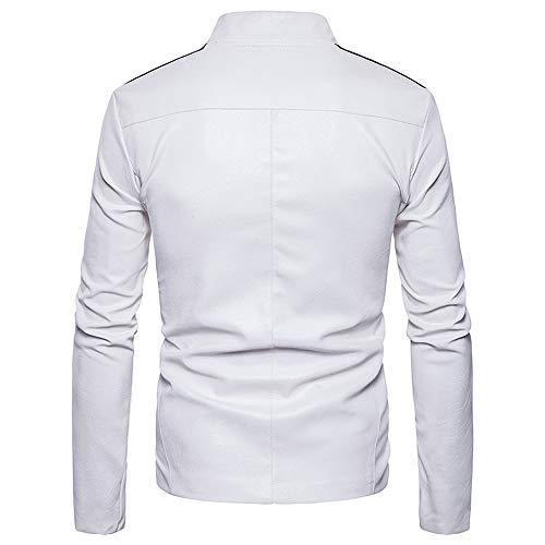 Jacket Stripe Solid Winter Knit Autumn White Men's Coat Long TEBAISE Blouse Outwear Sleeve BwCXFq0xx