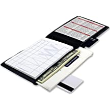 Waiter Wallet | Waitstaff Server Book | Fits Waiter & Waitress Aprons | Premium Server Pad Included | Spill Resistant Design Perfectly Sized To Organize Everything Servers Are Challenged To Carry