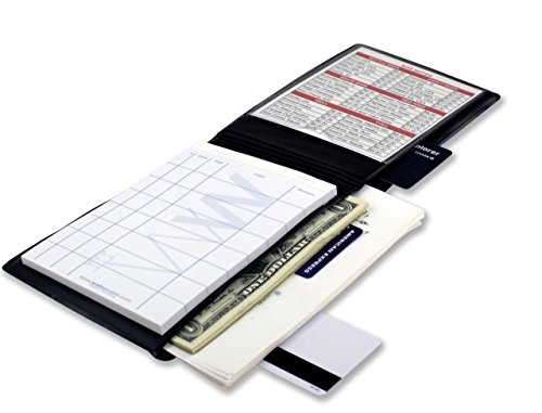Waiter Wallet | Server Book For Waiters & Waitresses | Fits Waitstaff Apron| Premium Server Pad Included | Spill Resistant Design Perfectly Sized To Organize Everything Servers Are Challenged To Carry by Waiter Wallet
