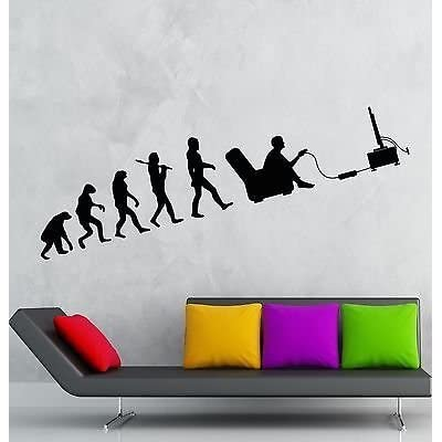 Wall Decal Gamer Evolution Video Game Kids Room Vinyl Sticker Art Mural (vs2538): Home Improvement