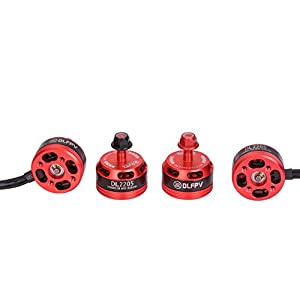 DLFPV 4pcs DL2205 2300KV Brushless Motor for FPV Drone Racing Quadcopter 2CW 2CCW in Red