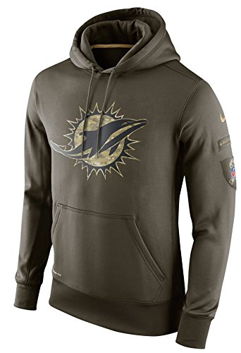 Miami Dolphins 2015 Nike NFL Men's Salute to Service Hoodie (3XL) by NIKE