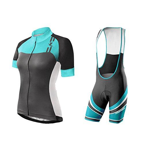 Uglyfrog 2017 New Womens Bike Shirt+Bib shorts Set Outdoor Sports Cycling Short Sleeve Cycle Bicycle Top Quality Clothes - Shorts Womens Cycle Bib