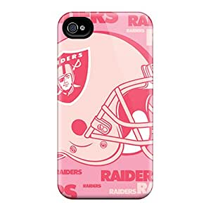 Flexible Tpu Back Case Cover For Iphone 4/4s - Oakland Raiders
