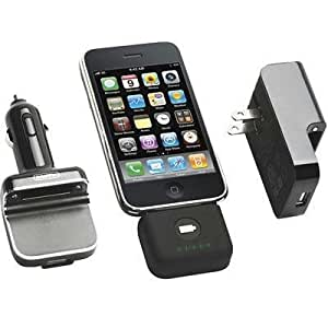 Griffin PowerDuo Reserve - Wall Charger - Car Charger - Backup Battery for iPod or iPhone