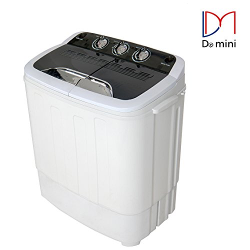 Do mini Portable Compact Twin Tub 13Ibs Capacity Washing Machine and Washer Spin Dryer - Portable Clothes Washer And Dryer